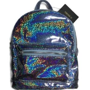 Holographic Mini Forever 21 Backpack